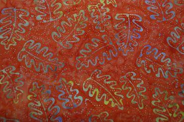 """Handgefärbte Batik aus Indonesien """"Oak Leaves"""" COL D, 100% Baumwolle"""