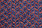 """Original Shweshwe Baumwollstoff  """"Braid Colors"""" lila 2, in 90cm Breite 001"""