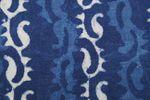 """Handbedruckter indischer Baumwollstoff """"Magic Indigo 001""""  001"""