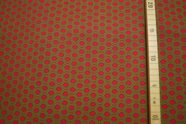 "Original Shweshwe Baumwollstoff  ""Magic Eyes ""pink/green/mallow in 90cm Breite – Bild 3"