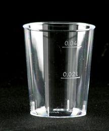 2000 Einweg Schnapsgläser, 4 cl, glasklar