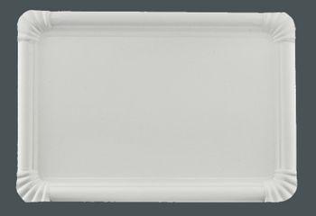 125 Pappteller rechteckig, 23 x 33cm