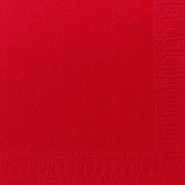 1000 DUNI Servietten, rot, 3-lag., 33x33 cm, 1/4