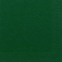 1000 DUNI Servietten, jägergrün, 3-lag., 33x33 cm, 1/4