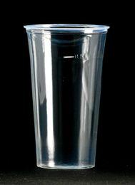 1040 Trinkbecher mit Schaumrand, 500 ml, klar-glatt