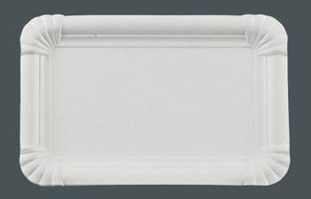 250 Pappteller rechteckig, 13 x 20 cm