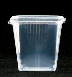 100 Verpackungsbecher m. D. rechteckig, 500 ml