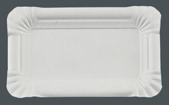3000 Pappteller rechteckig 9 x 15 cm, weiß