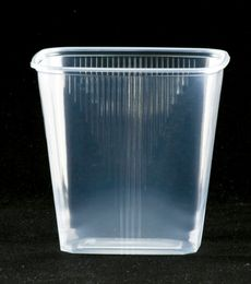 100 Verpackungsbecher rechteckig, 500 ml