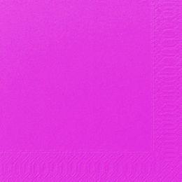 1000 DUNI Servietten, fuchsia, 3-lag., 33x33 cm, 1/4