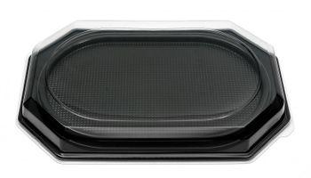10 Catering- Trays schwarz inklusive DECKEL, 560 x 380 x 90 mm, 1167+1173