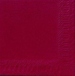 1000 Duni Servietten, bordeaux, 3-lag., 40x40 cm, 1/4 Falz, 213127