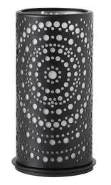 4 Duni Kerzenhalter Billy, schwarz, Metall, 171487