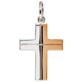 Anhänger Kreuz Kreuzanhänger aus 585 Gold Weißgold