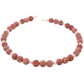 Kette-aus-Koralle-und-Perlen-und-925-Silber