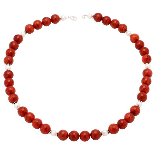 Kette-aus-Korallen-und-Perlen-und-925-Silber