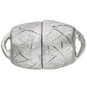Schließe, Magnet-Schließe aus 925 Silber, Echt-Silber