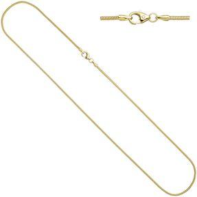 1,4mm Schlangenkette Kette rund, 333 Gold Gelbgold 60cm