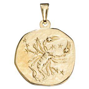 Sternzeichen Skorpion - Anhänger aus 333 Gold Gelbgold