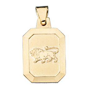 Sternzeichen Löwe - Goldanhänger Anhänger, 333 Gold