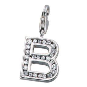 "Buchstabe "" B "" Ketten Anhänger Einhänger Charm Charms, 925 Silber"