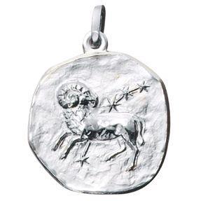 Sternzeichen Widder - Anhänger aus 925 Echt Silber Sterlingsilber