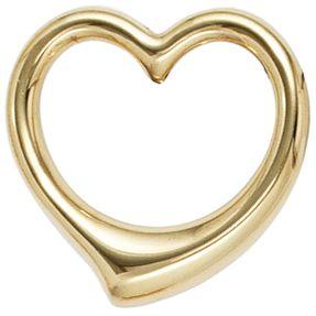Goldanhänger Schmuck Anhänger Herz aus 333 Echt Gold Gelbgold