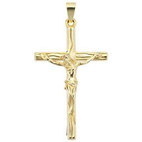 Goldanhänger Kettenanhänger Gold Anhänger Kreuz Goldkreuz Gelbgold 585er 14KT