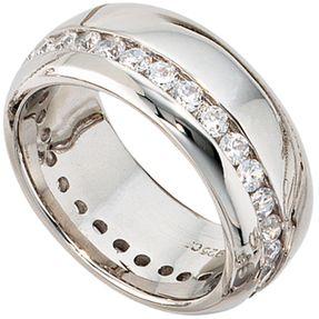 Silberring Damen Ring mit Zirkonia, 925 Echt Silber Sterlingsilber