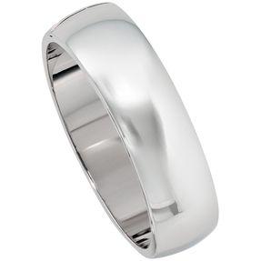 Armband Armreif aus 925 Silber oval rhodiniert Armschmuck glänzend Breite 19,4mm