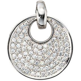 Anhänger mit 78 Diamanten Brillanten, 585 Weißgold, Damen, exklusiv