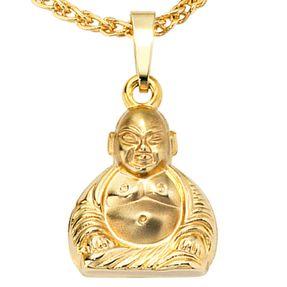 Anhänger-Buddha-aus-333-Gelbgold-Unisex