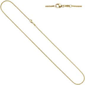 1,5mm Erbskette Kette Collier, 333 Gold Gelbgold, Goldkette, 38 cm