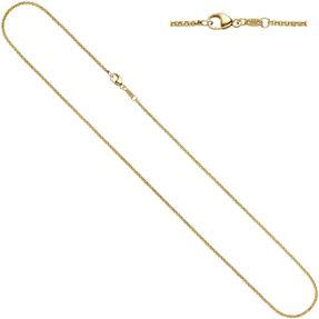 2,5mm Erbskette Kette Collier, 585 Gold Gelbgold, Goldkette, massiv, 50cm