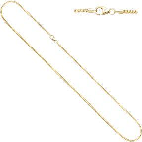 1,5mm Bingokette Kette Collier, 585 Gold Gelbgold, Goldkette, 42 cm
