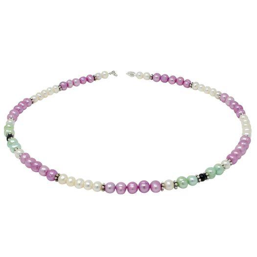 Bunte-Halskette-aus-Perlen-und-Onyx-multicolor