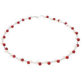 Halskette-aus-Koralle-und-Perlen-rot-weiß