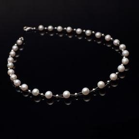 Kette-aus-echten-Perlen-und-925-Silber-creme-weiß