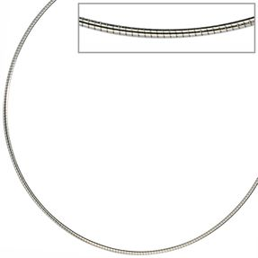 1mm Halsreif Halskette Kette Collier aus Edelstahl, Damen, 42cm