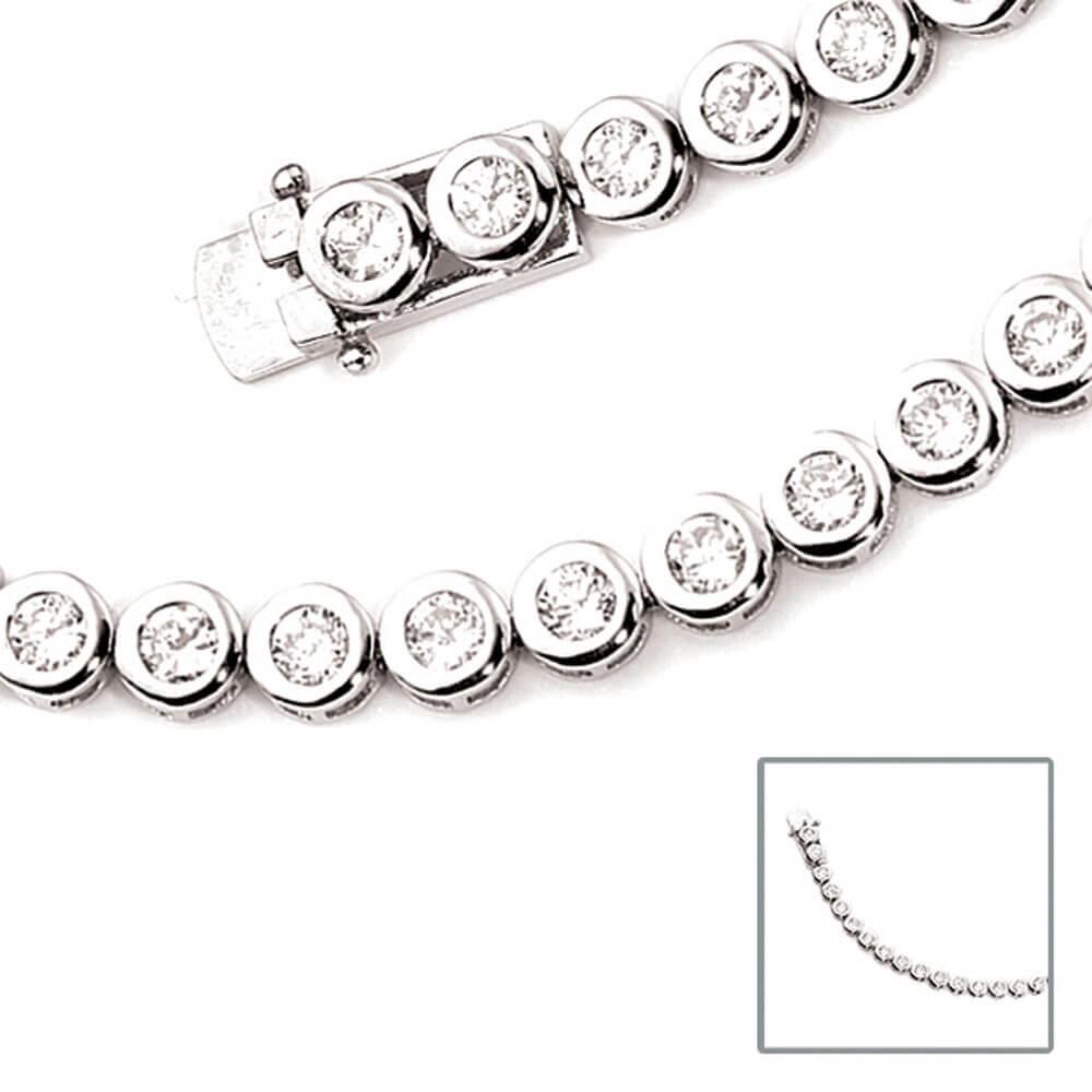 Gutscheincodes ungeschlagen x Sonderrabatt von 6,3mm Armband Armkette mit Zirkonias, 925 Silber, Damen, 19cm