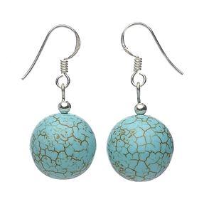 Ohrringe-aus-Türkis-Howlith-925-Silber
