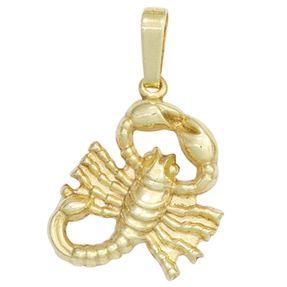 Sternzeichen Anhänger Skorpion 333 Gold Gelbgold Einhänger Halsschmuck