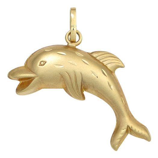 Anhänger-Delphin-aus-333-Gelbgold