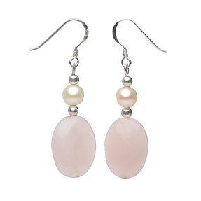 Ohrringe-aus-Rosenquarz-und-Perlen-und-925-Silber