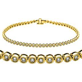 Armband Tennisarmband 585 Gold S: 2,8mm Länge: 18,5 cm 62 Brillanten 1,16 ct/si
