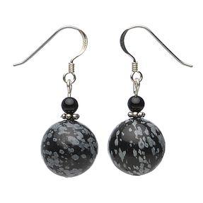 Ohrringe-aus-Schneeflockenobsidian-und-Onyx-und-Silber