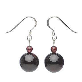 Ohrringe aus Granat und 925 Silber