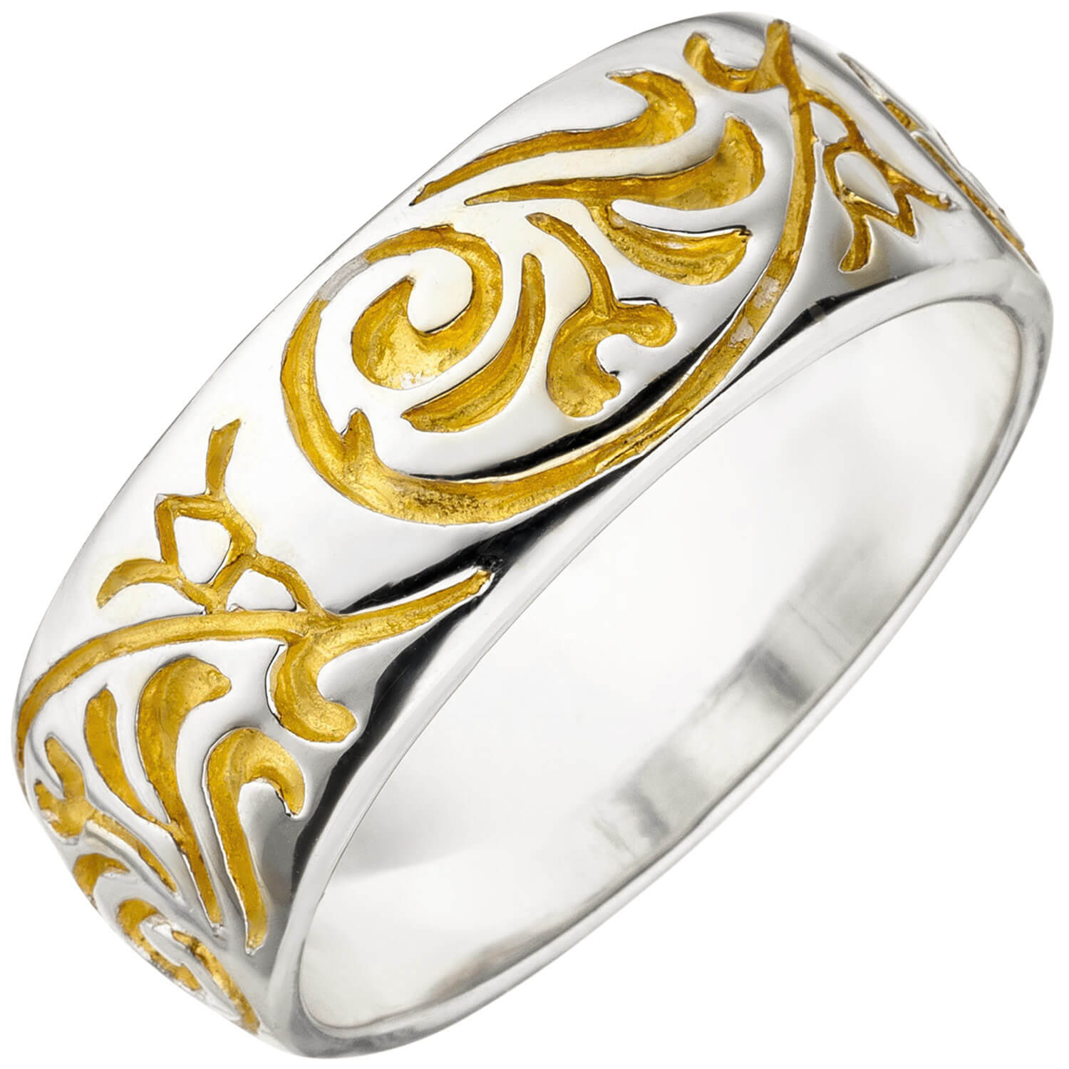 Ring Damenring Mit Ornament Muster 925 Silber