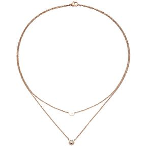 1-2mm-Collier-Krone-Edelstahl-Rotgoldfarbe-38cm
