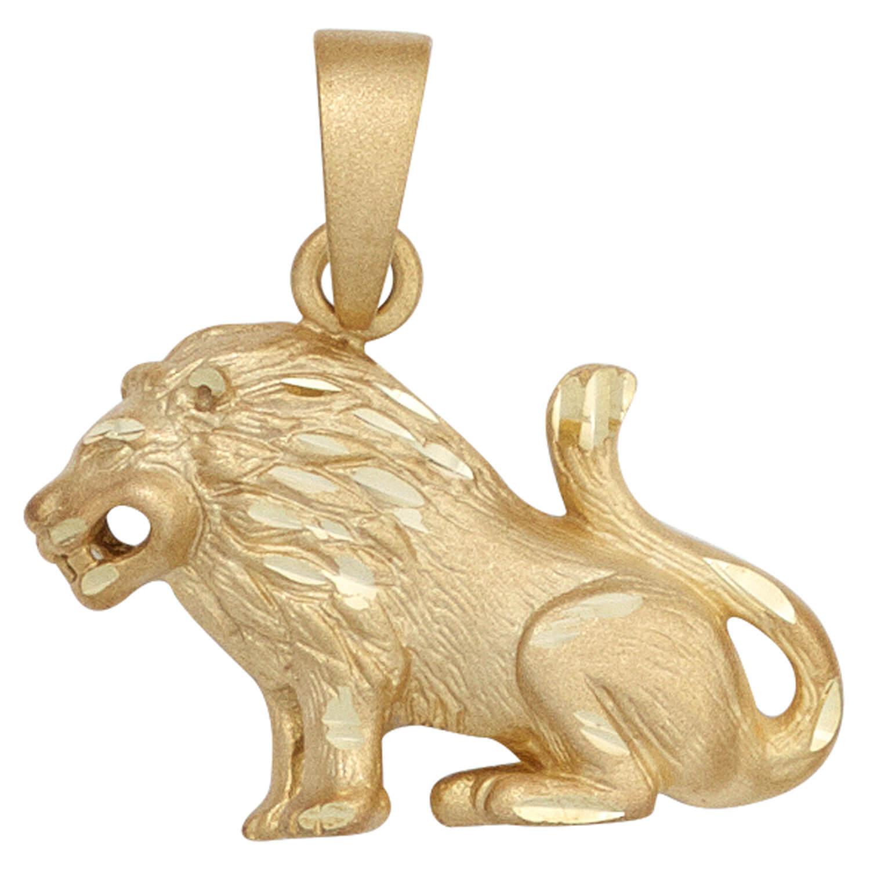 Edelstahl Anhänger Löwe massiv 6,2 cm x 3,2 cm Kettenanhänger Sternzeichen Kette